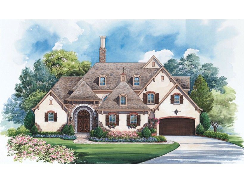 ePlans French Country House Plan \u2013 Alluring Luxury \u2013 4005 Square