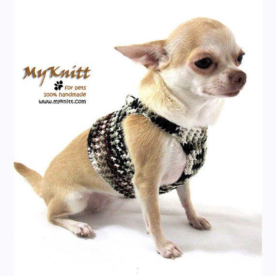 Dog Harnesses Dh10 By Myknitt Handmade Dog Pet Cat Harness