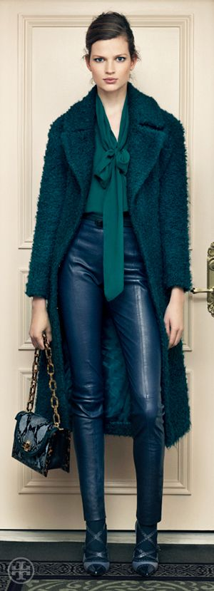 Soft Rock: Leather & Bows- can't wait for fall fashion! =)