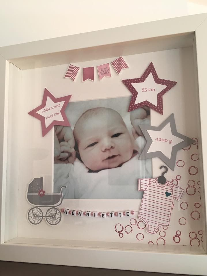 Bilderrahmen Geburt | Reem | Pinterest | Shadow box, Babies and Scrap