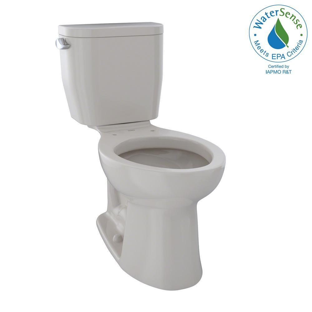 Toto Entrada 2 Piece 1 28 Gpf Single Flush Elongated Toilet In Sedona Beige Modern Toilet Round Chair Toilet