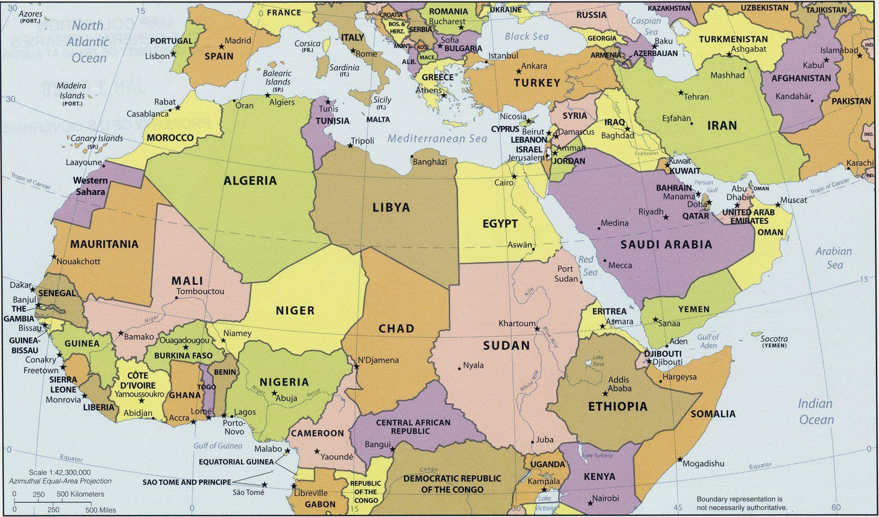 Carte De Lafrique Et Moyen Orient.Carte Afrique Moyen Orient Imvt