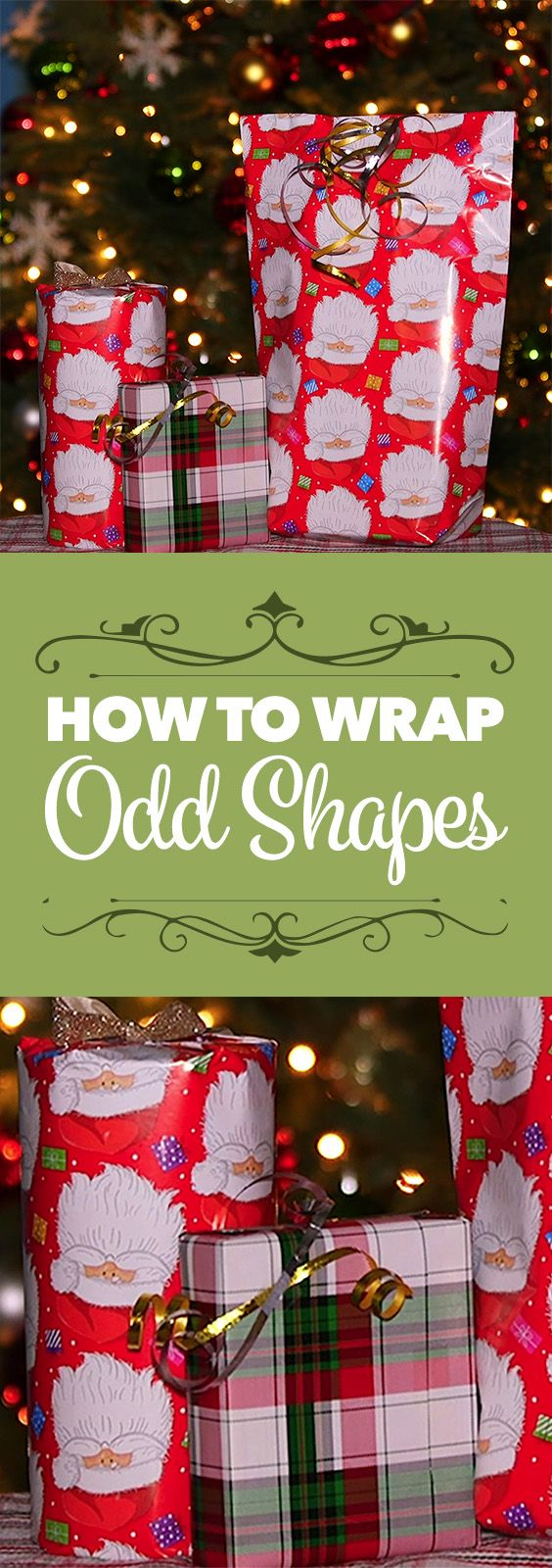 How to Wrap Odd Shapes | Christmas | Pinterest | Xmas crafts, Glass ...