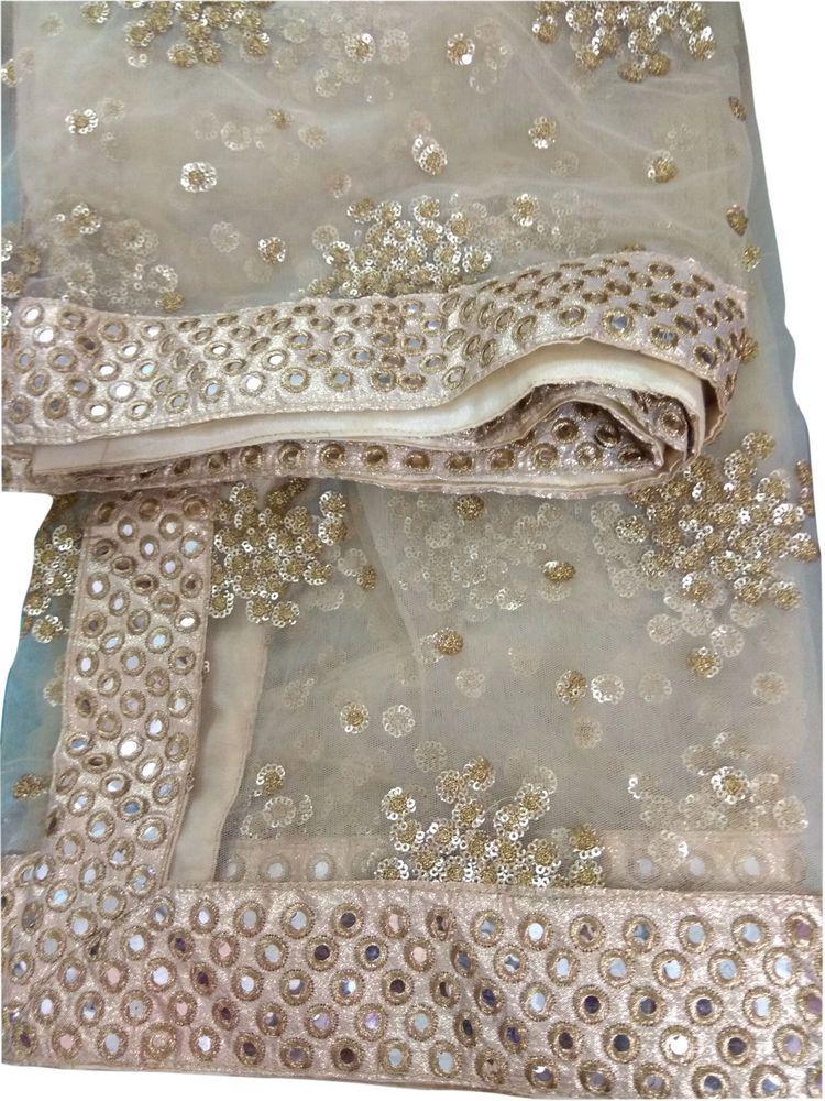 Indian Embroiderd Net Stole Dupatta