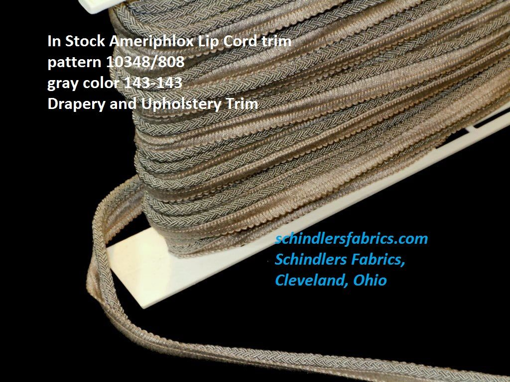 In Stock Gray Lip Cord Drapery And Upholstery Trim See At Http