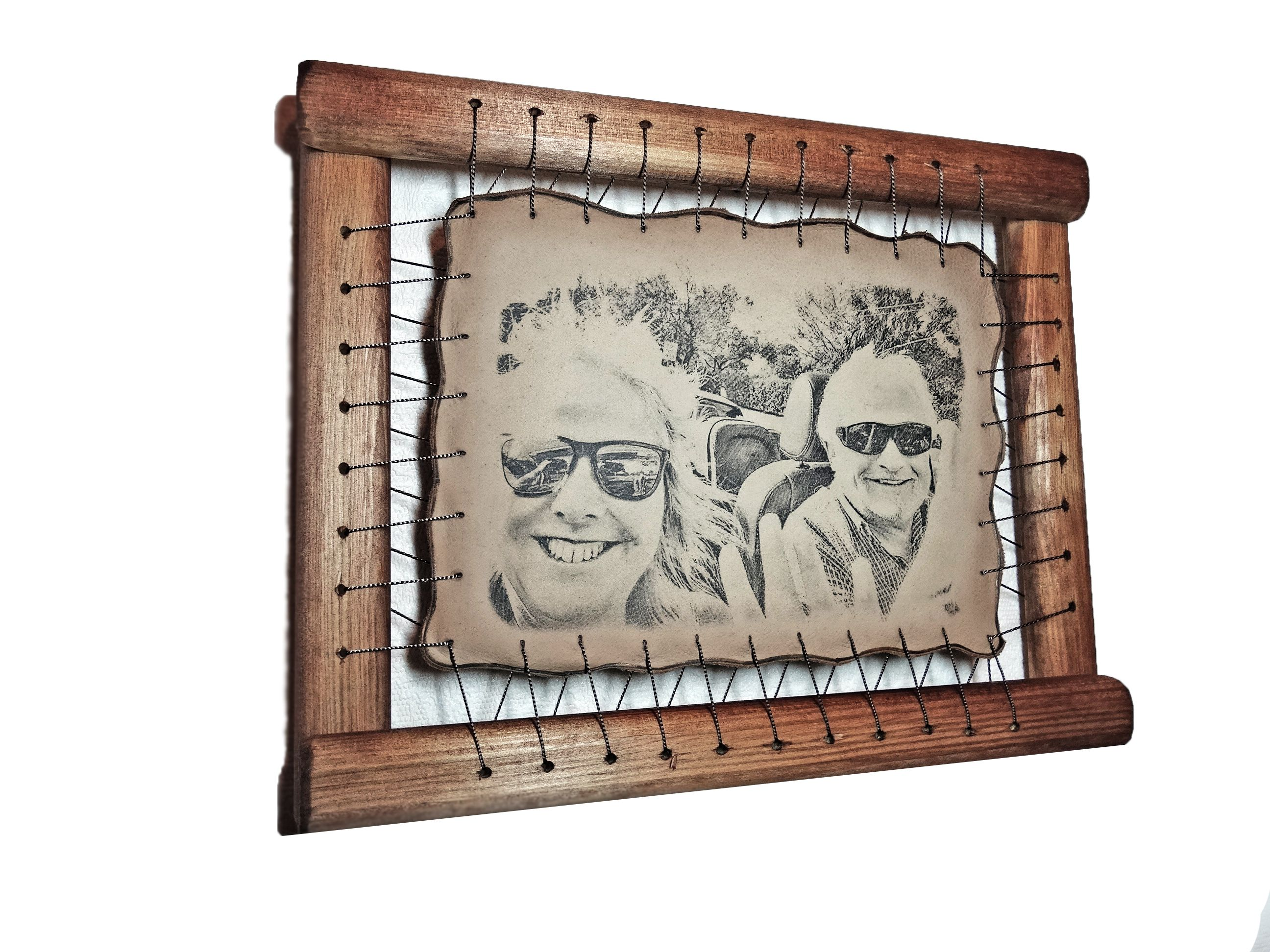 Creative leather anniversary gifts rare hand drawn pyrography creative leather anniversary gifts jeuxipadfo Image collections