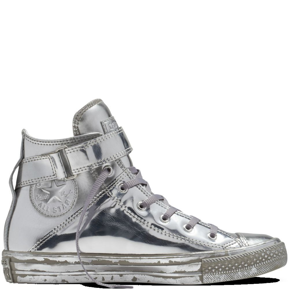 c212421984fb66 NEW Converse Chuck Taylor All Star Brea Metallic CHROME Silver Womens  Sneaker  Converse  FashionSneakers