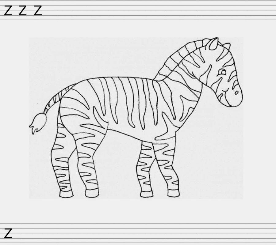 Z Comme Zèbre Coloring Pages Drawings Coloring Pages
