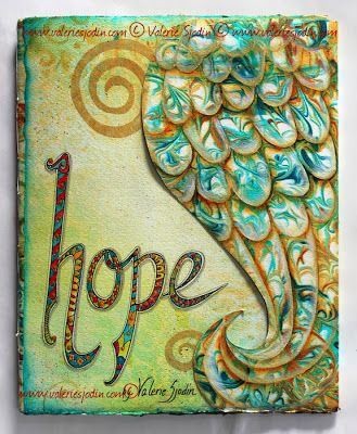 Hope Journal Cover and workshop, visual blessings