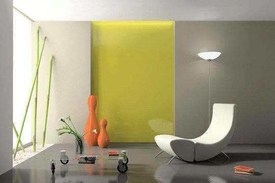 vert pomme et gris pour un int rieur tendance 20 id es de couleurs pour repeindre vos murs. Black Bedroom Furniture Sets. Home Design Ideas