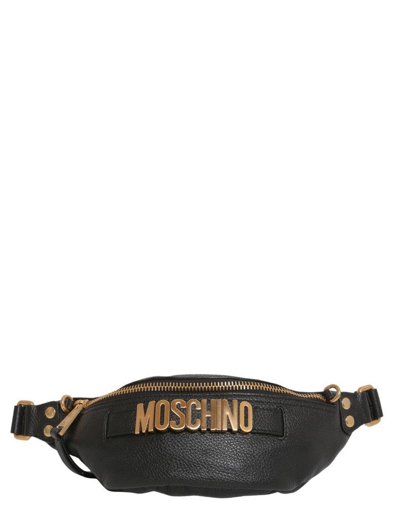 2432011183 MOSCHINO Textured Leather Fanny Pack. #moschino #bags #leather #belt bags #