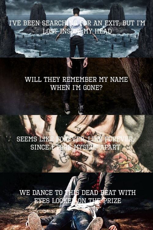 The Opening Lines of The Amity Affliction Albums.