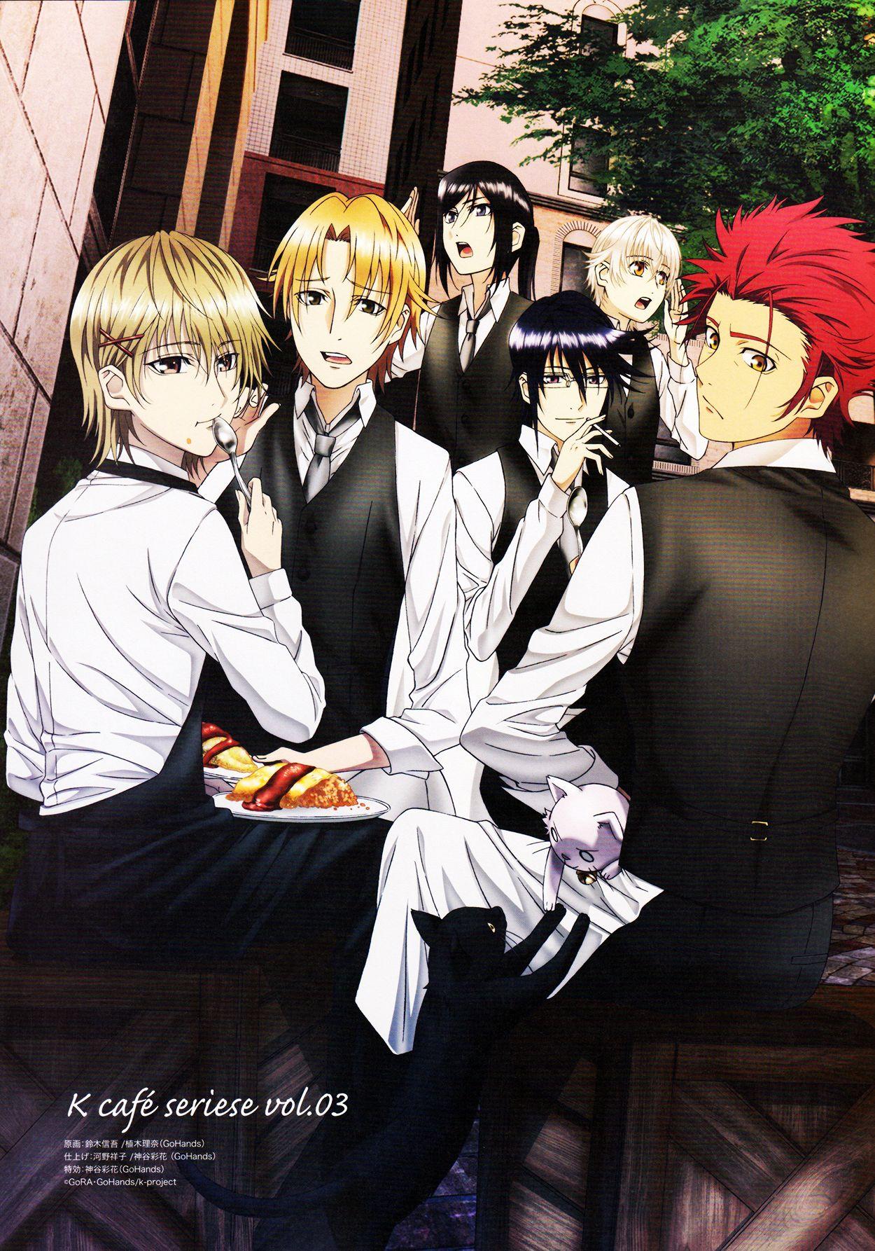 K: Project - Totsuka, Izumo, Kuroh, Reisi, Shiro, Mikoto