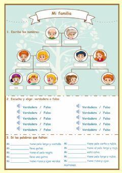 Mi Familia Language Spanish Grade Level Elemental School Subject