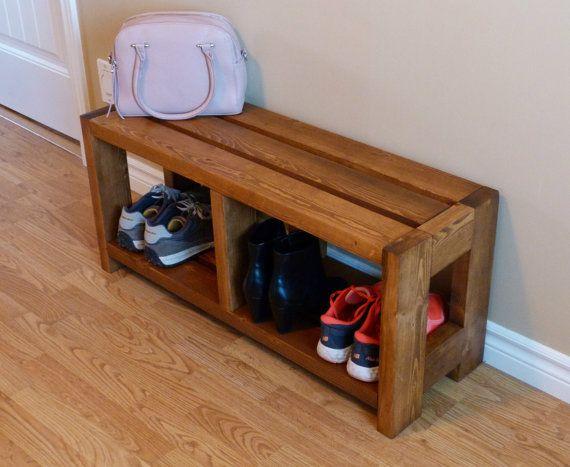 Rustic Shoe Bench Shoe Storage Shoe Organizer Shoe Cabinet