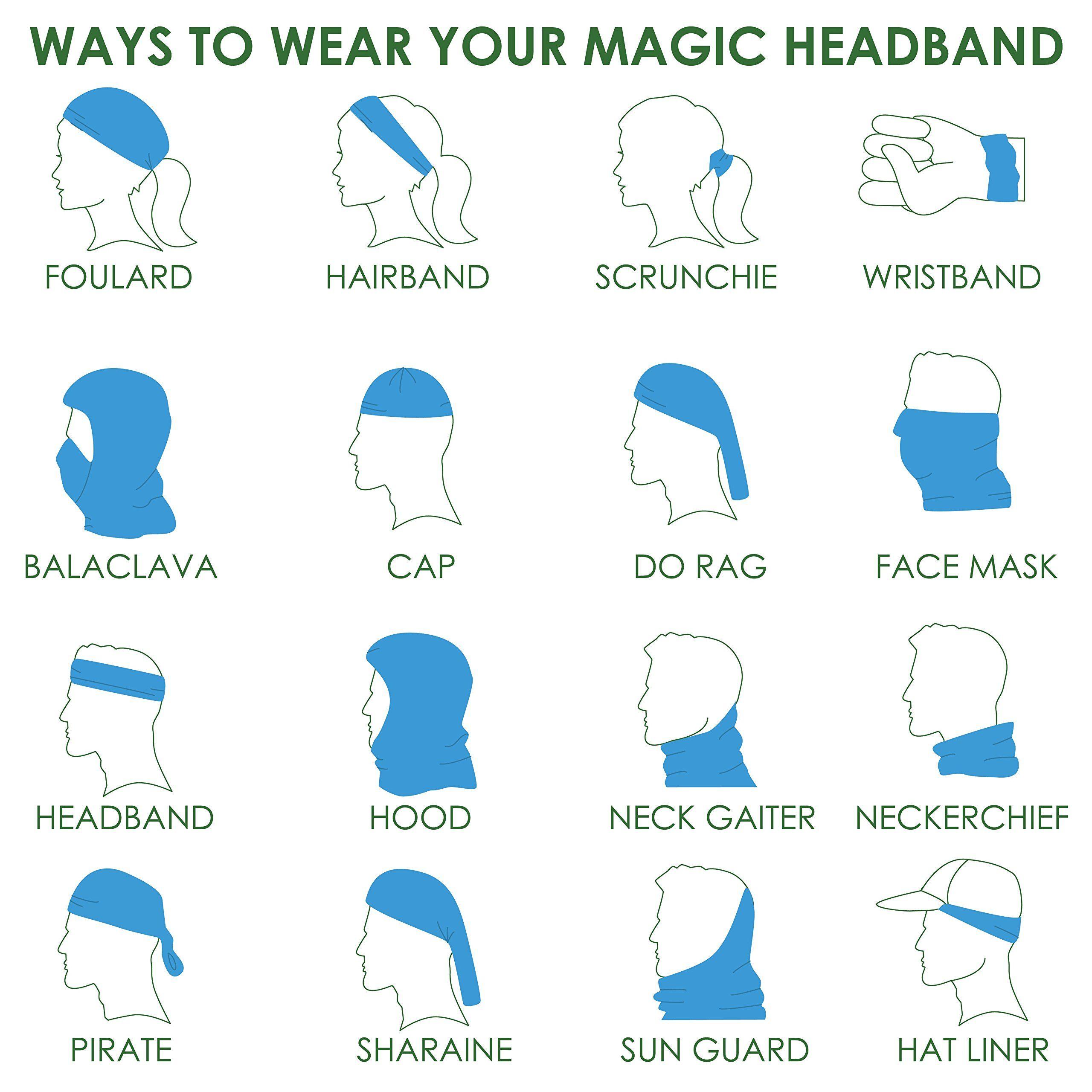 Headbands Jewelry Headwear Bandana Sweatband Gaiter Head Wrap Mask Neck Outdoor Scarf