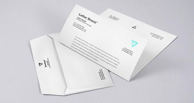Free Envelope Letter Psd Branding Mockup  Mb  PixedenCom