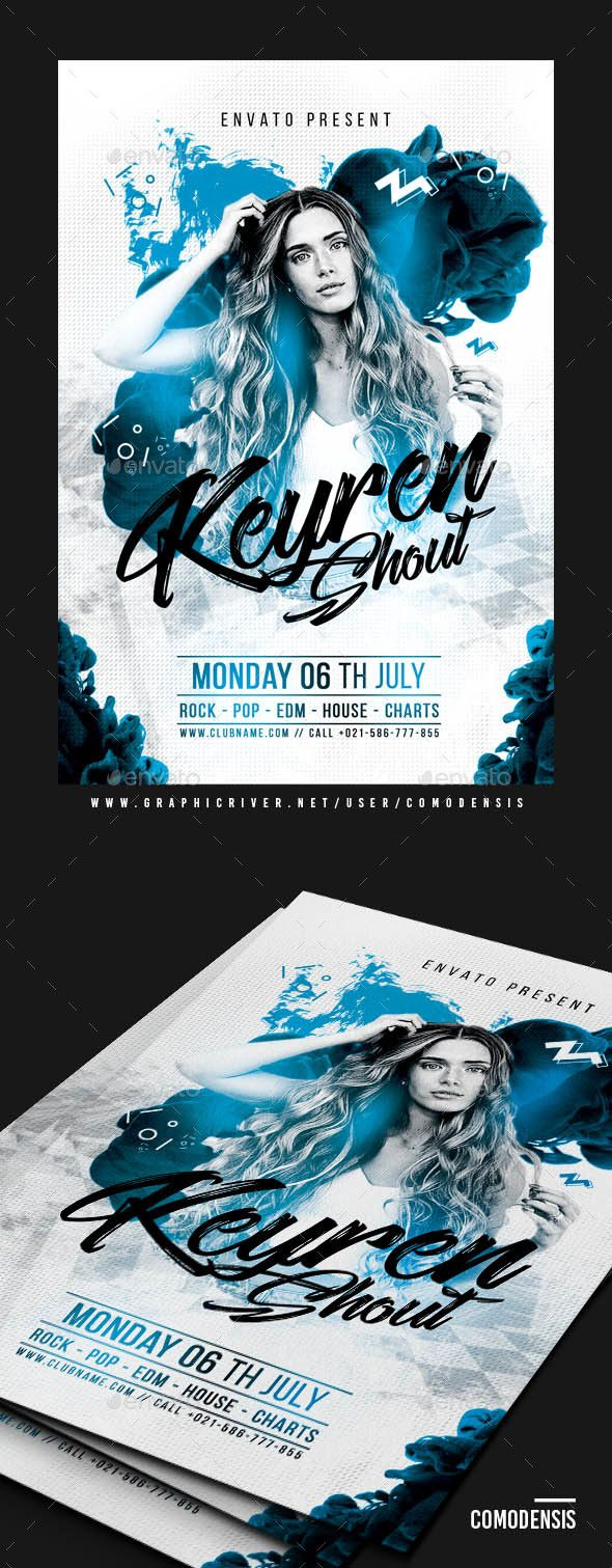Dj Club Flyer  Dj Flyer Template And Party Flyer