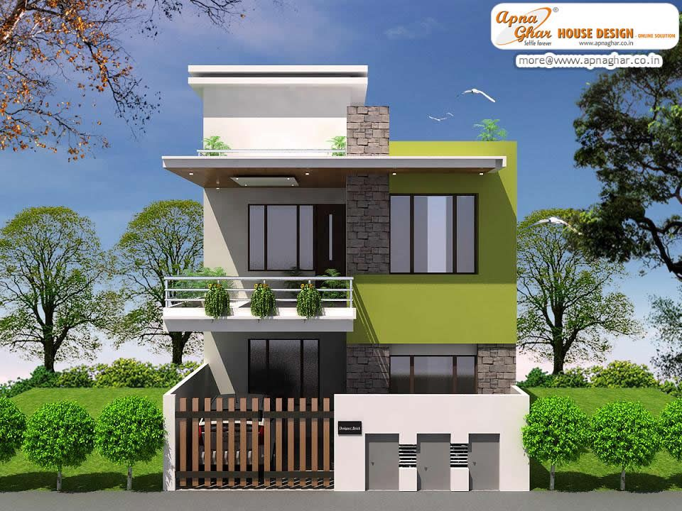 Simple duplex house hd images modern duplex house design for Front view of duplex house in india