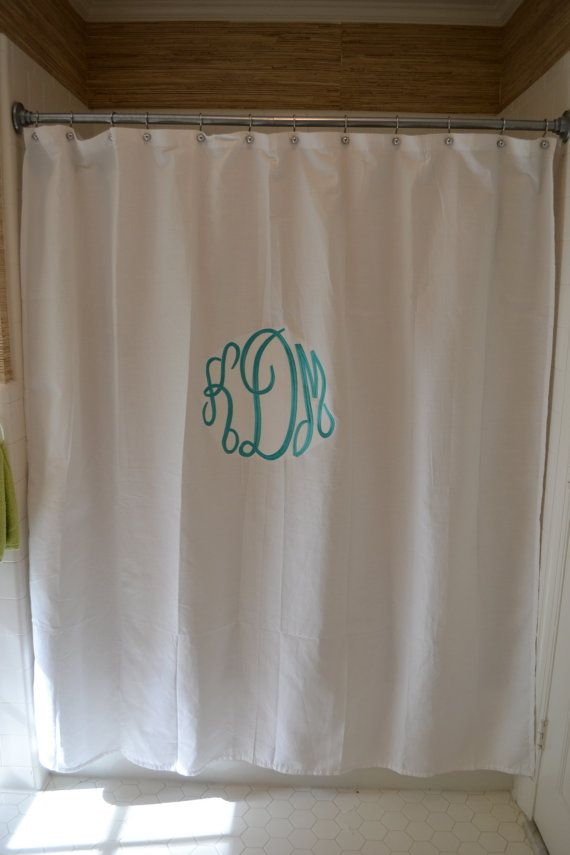 Custom Monogrammed Shower Curtain by lilandgaines on Etsy, $45.00 ...