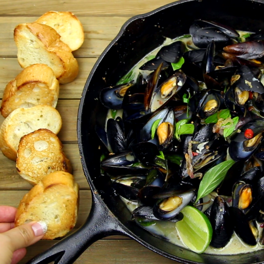 Photo of Spicy Coconut Mussels
