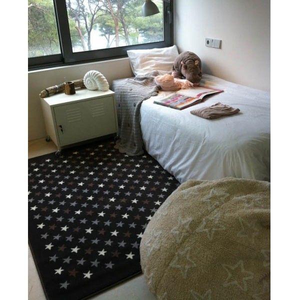 alfombra estrellitas marrón multi | tiendas on | alfombras