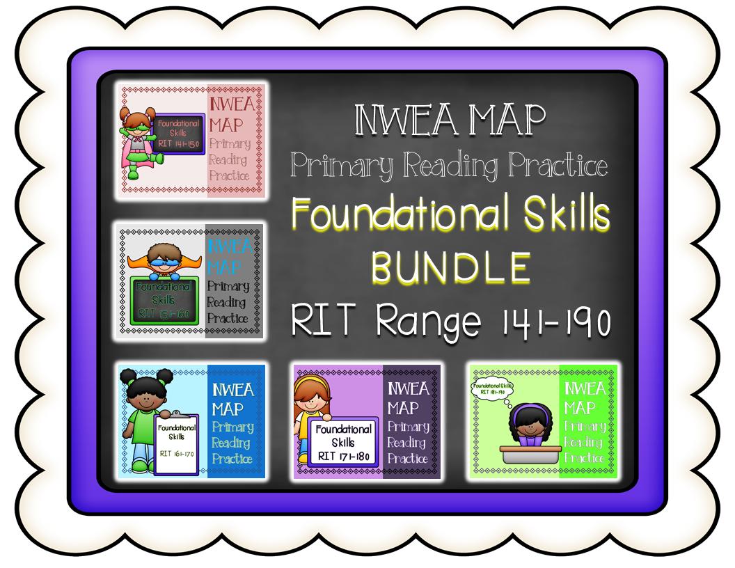 Nwea Map Primary Reading Practice Bundle Foundational
