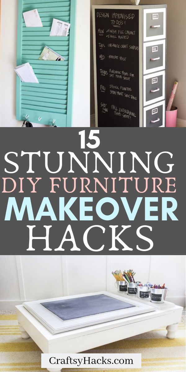 15 Stunning DIY Furniture Makeover Ideas #redoingfurniture