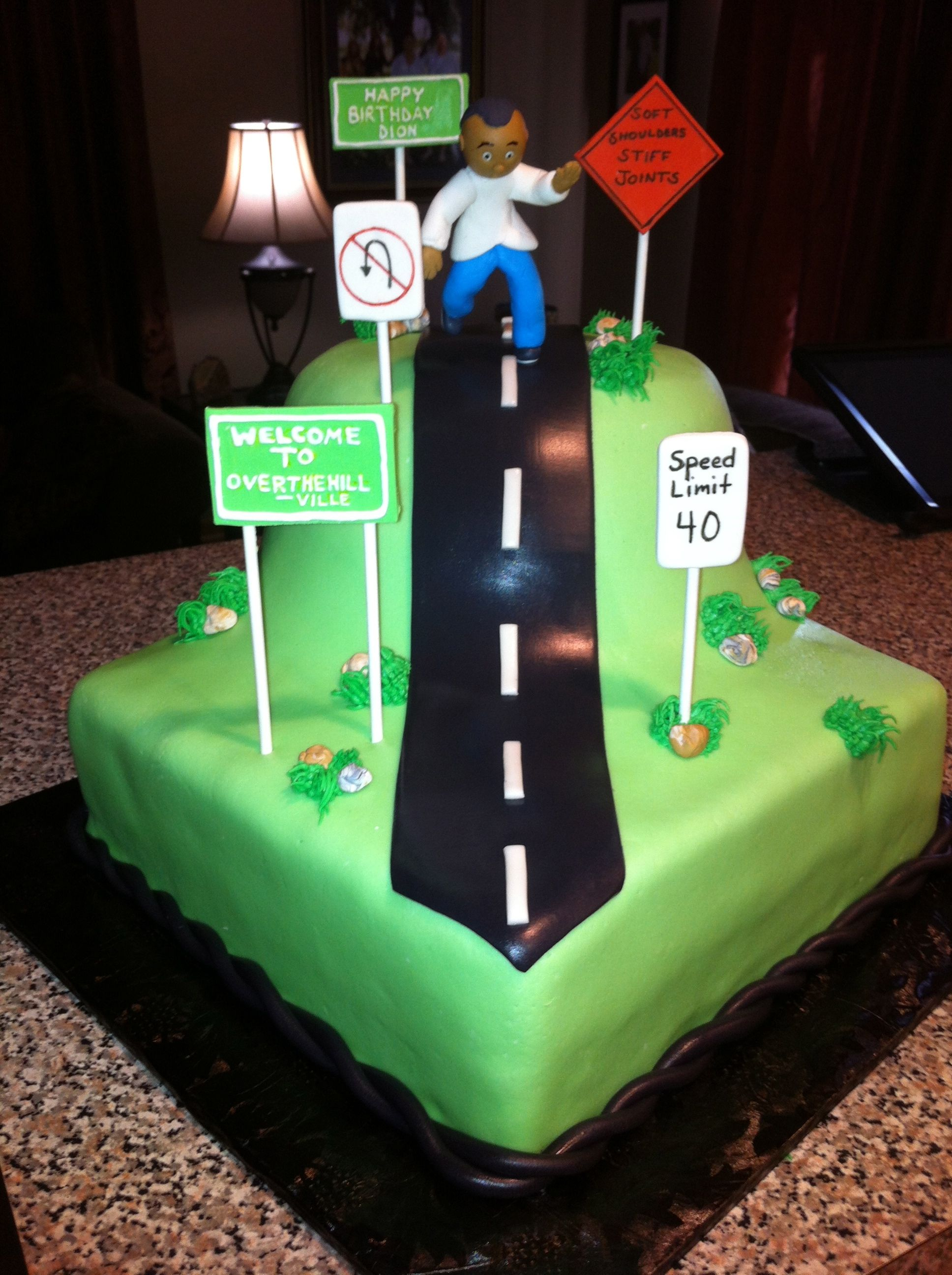 Over the hill over the hill cakes 40th birthday cakes