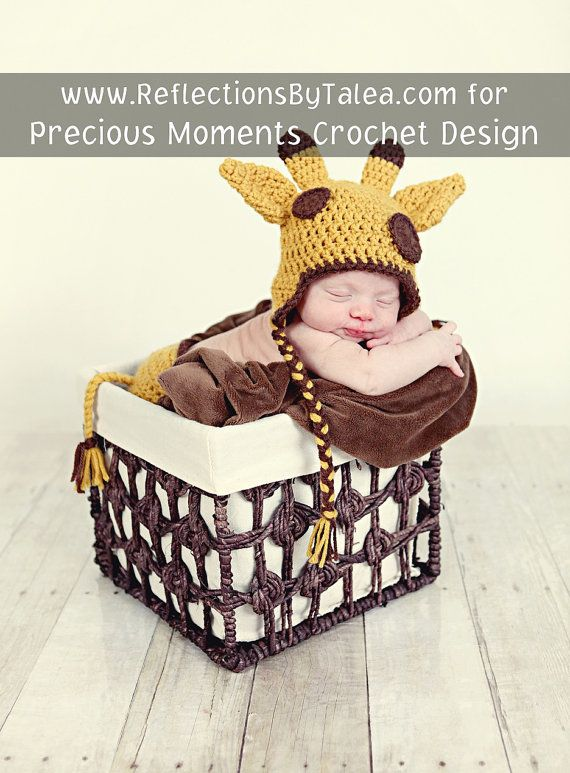 SET Giraffe  Hat  and Diaper Cover with by PreciousMomentsProps, $38.00