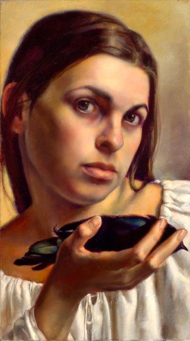 Jill Hooper...a local talent. This is her self-portrait. Her work is featured at Ann Long Fine Art Gallery...she's amazing!   #Jill Hooper #Gibbes #Ann Long