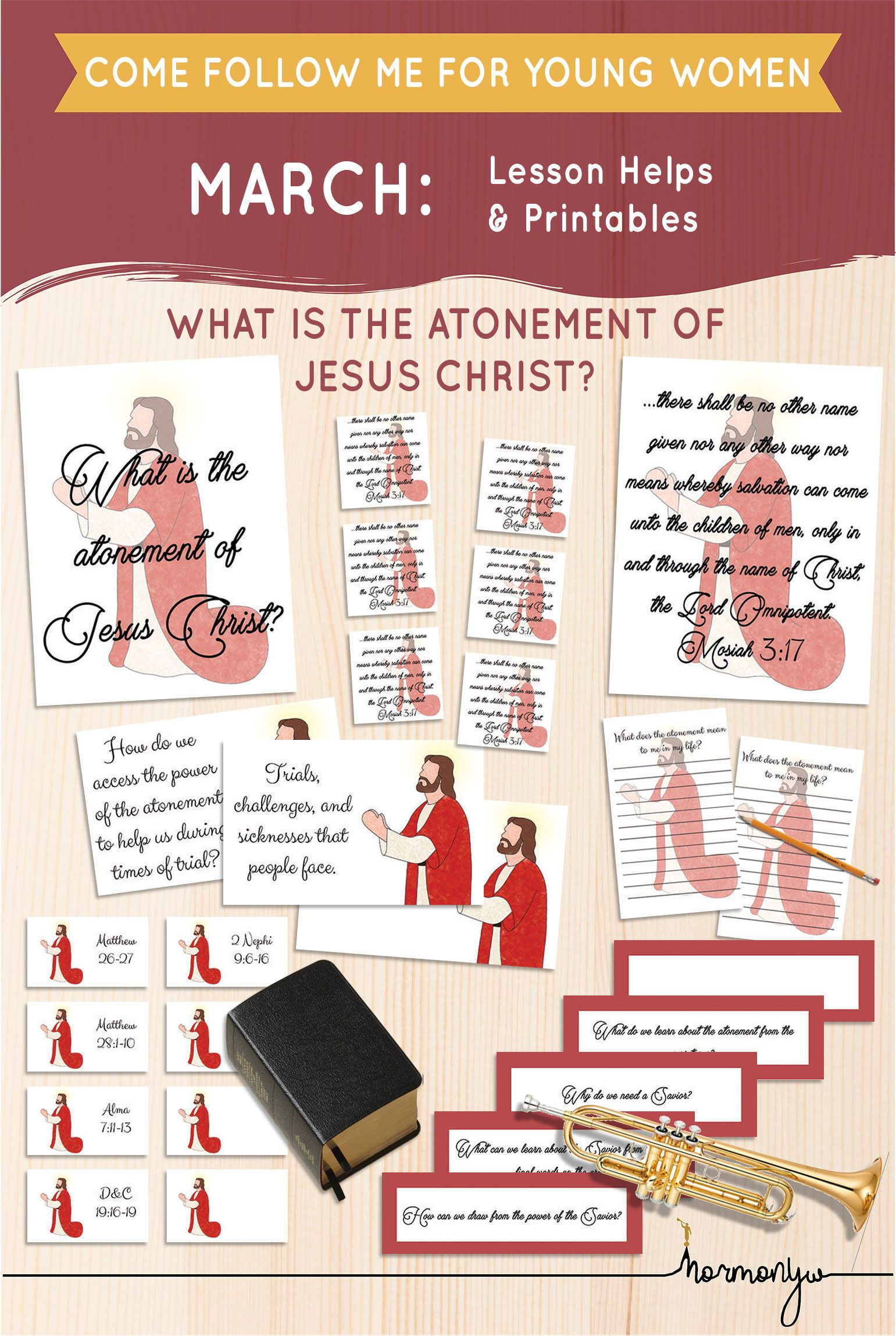 Beautiful Lesson Helps For Come Follow Me Lds Young Women Sunday Lesson March The Atonement Of