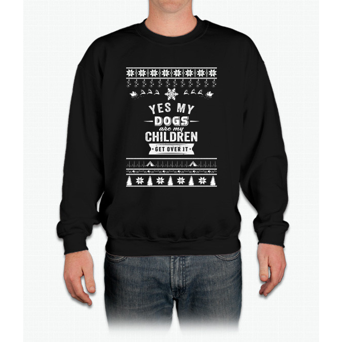 Merry Christmas Dogs Crewneck Sweatshirt Mèo