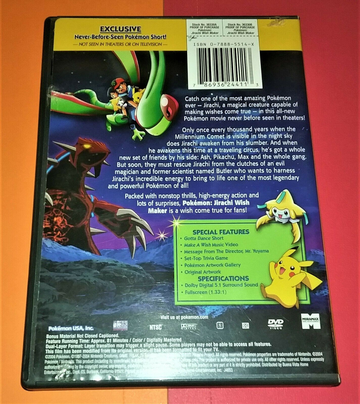 Pokemon - Jirachi Wish Maker (canadian Release DVD for sale online