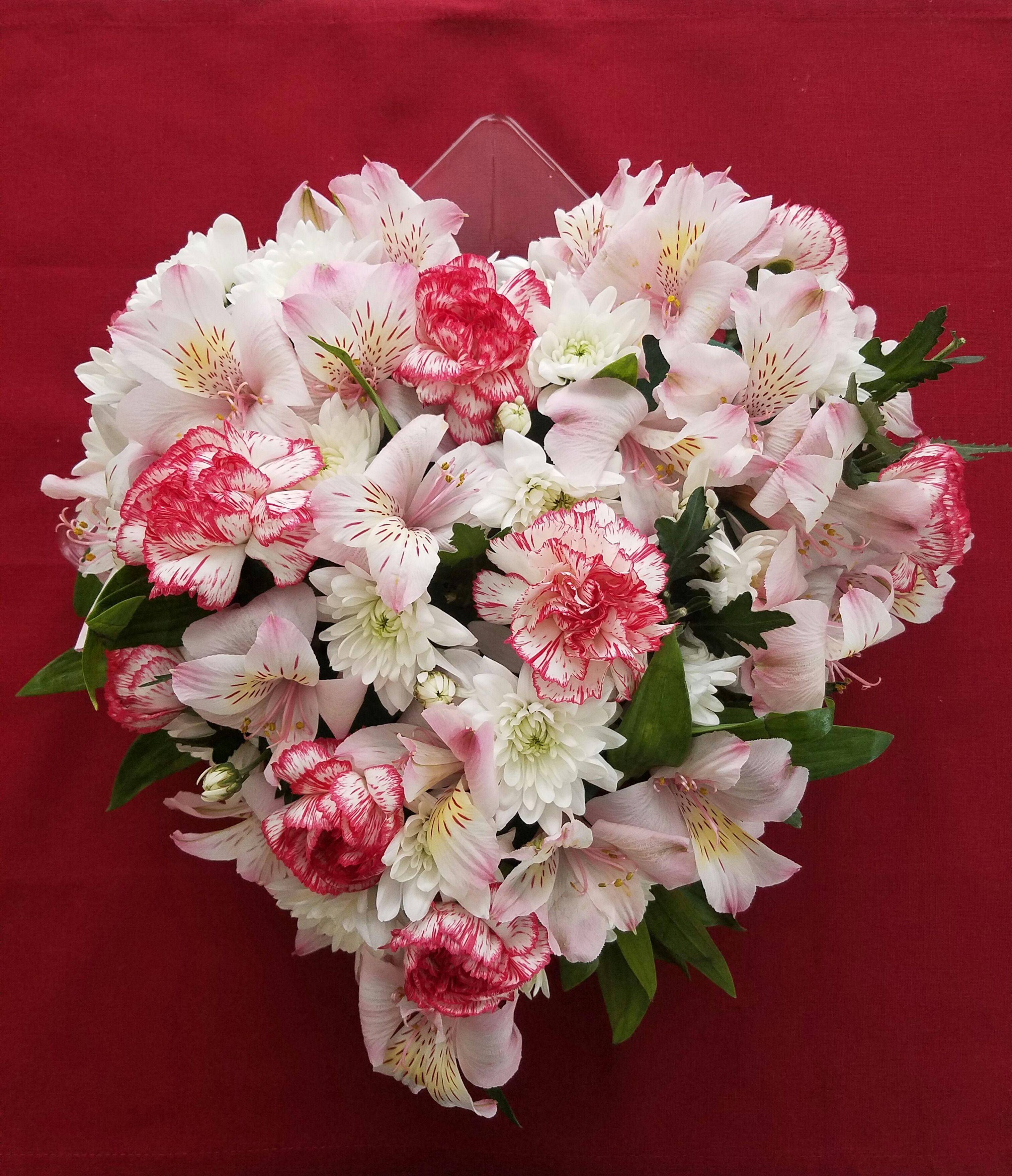 Heart Shaped Floral Centerpiece