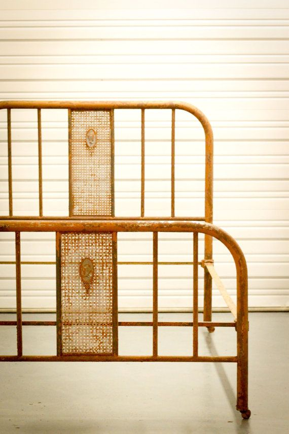Vintage Full Metal Bed With Cameo Detail By Thesouthernmermaid