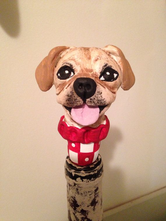 Customize Your Dog  Wine Stopper III on Etsy, $23.00