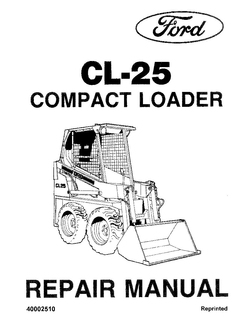 New Holland Ford CL25 Compact Loader Workshop Repair