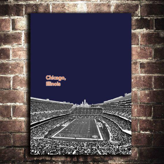 Chicago Bears NFL Football Sports Poster 12x16. $15.00, via Etsy.