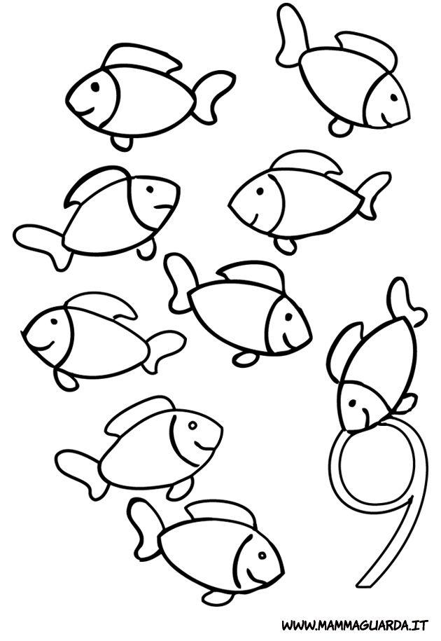 Risultati immagini per disegno pesciolini scuola for Disegni da colorare pesciolini