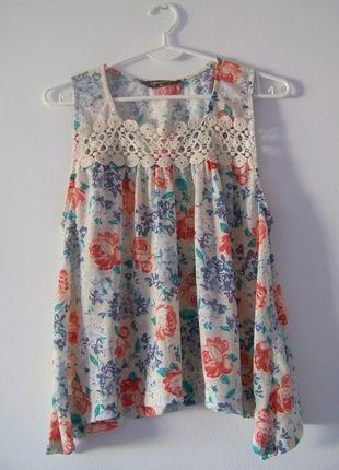 Bluzeczka Z Koronka W Kwiaty Na Ramiaczka Summer Dresses Sleeveless Top Fashion
