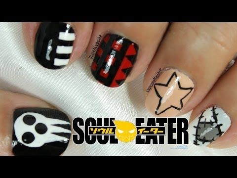 Soul Eater Inspired Nail Art You