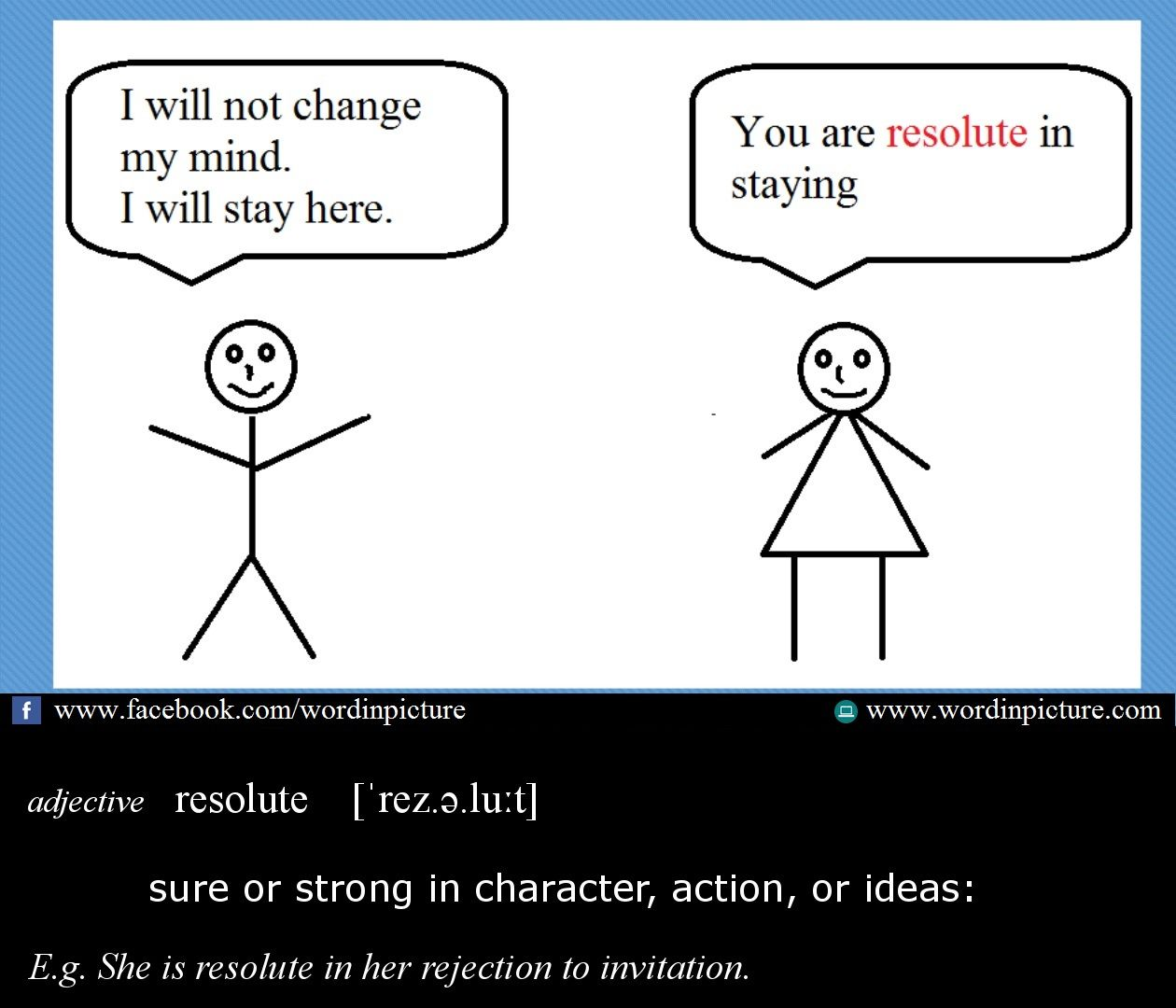 Learn New Word In English Resolute Resolute Meaning