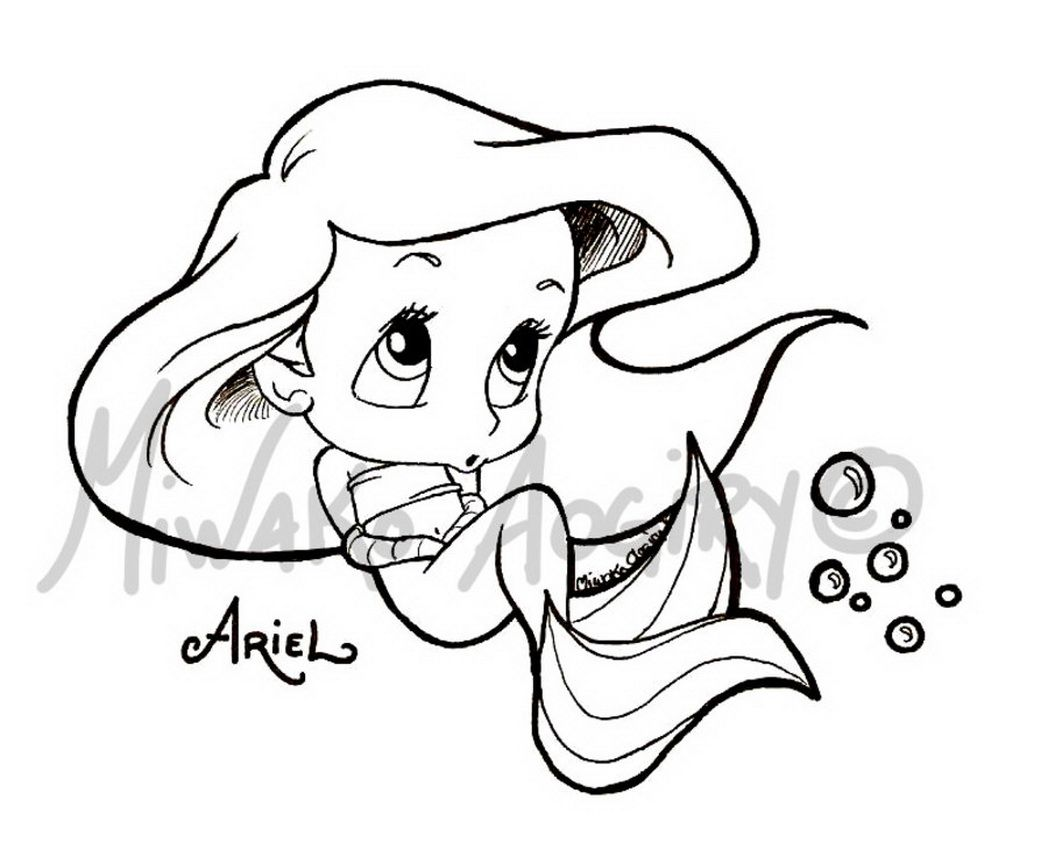 Ariel Printables Colouring Pages Disney Princess Disney Princess Baby Ariel Coloring Pages