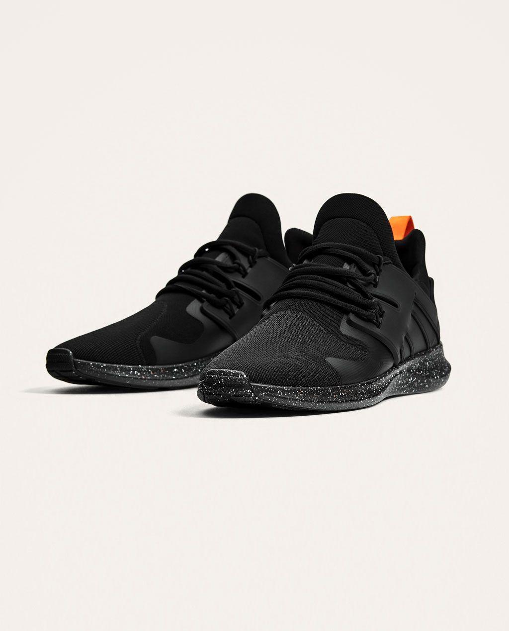 BLACK SNEAKERS WITH PRINTED SOLES-BEST SELLERS-MAN  3aac721a245