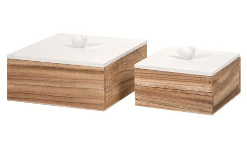 IMAX Mochrie Lidded Boxes - Set of 2