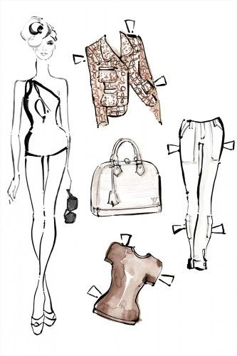 Louis Vuitton paper dolls for the cool kid in you!