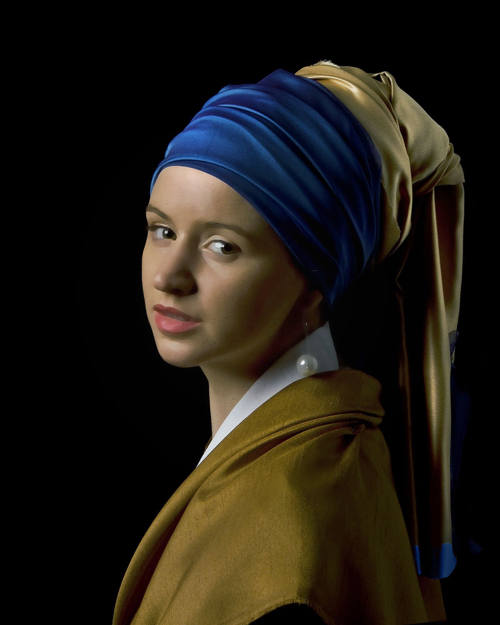 Das Mädchen Mit Dem Perlenohrring Gemälde This Is A Reproduction Of The Girl With A Pearl Earring Vermeer