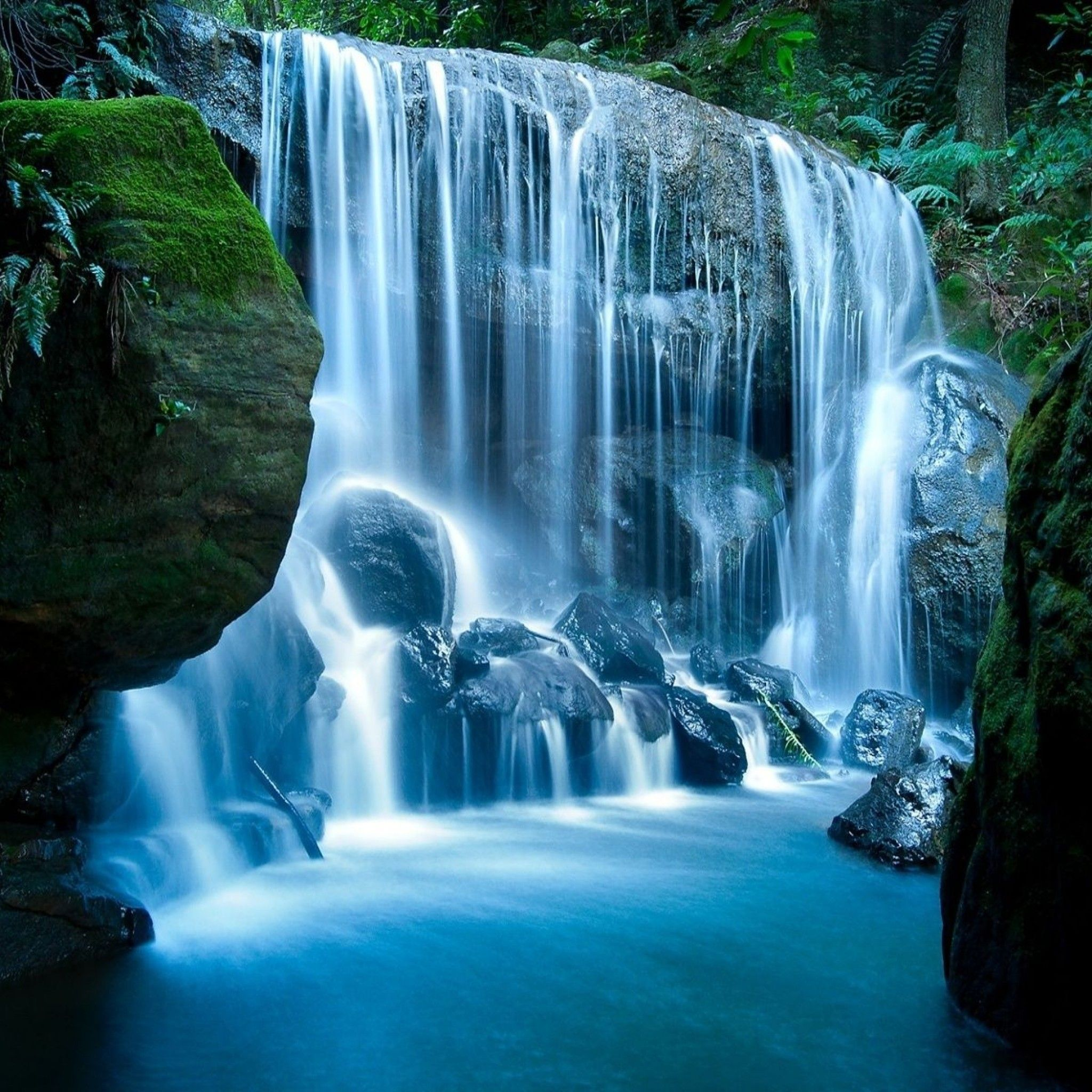 Tropical Waterfall Tap to see more beautiful wallpapers