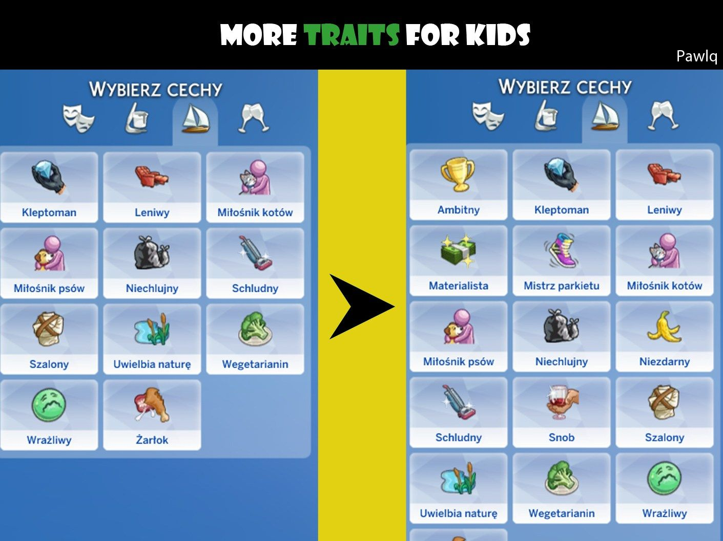 More Traits For Kids The Sims 4 Catalog In 2020 Sims 4 Gameplay Sims 4 Traits Sims 4 Game
